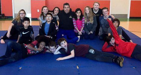 Ernest at Aspen Youth Center teaching Self Defense Dec 2015