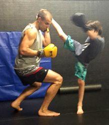 Thomas the Train at Aspen MMA Muay Thai Class